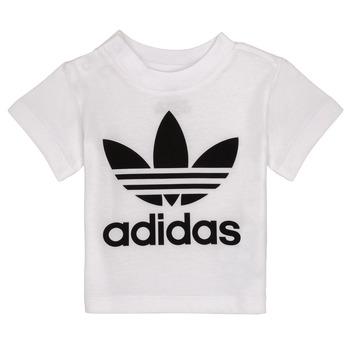 Υφασμάτινα Παιδί T-shirt με κοντά μανίκια adidas Originals MAELYS Άσπρο