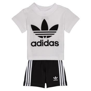 Υφασμάτινα Παιδί Σετ adidas Originals CAROLINE Άσπρο / Black