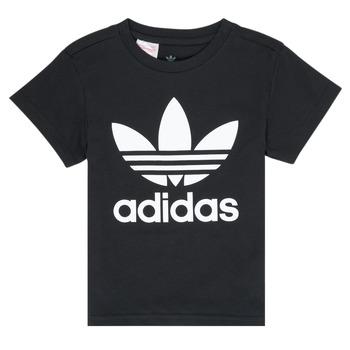Υφασμάτινα Παιδί T-shirt με κοντά μανίκια adidas Originals LEILA Black