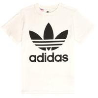Υφασμάτινα Παιδί T-shirt με κοντά μανίκια adidas Originals SARAH Άσπρο