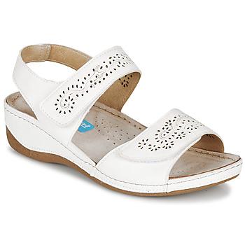Παπούτσια Γυναίκα Σανδάλια / Πέδιλα Damart MILANA Άσπρο