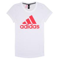 Υφασμάτινα Κορίτσι T-shirt με κοντά μανίκια adidas Performance ELIOTE Άσπρο