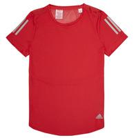 Υφασμάτινα Κορίτσι T-shirt με κοντά μανίκια adidas Performance MELINDA Red