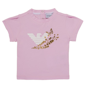 Υφασμάτινα Κορίτσι T-shirt με κοντά μανίκια Emporio Armani Adrian Ροζ