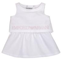 Υφασμάτινα Κορίτσι Κοντά Φορέματα Emporio Armani Alberic Άσπρο