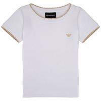 Υφασμάτινα Κορίτσι T-shirt με κοντά μανίκια Emporio Armani Allan Άσπρο