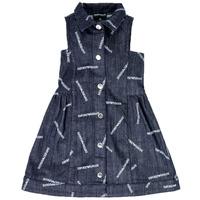Υφασμάτινα Κορίτσι Κοντά Φορέματα Emporio Armani Andy Μπλέ