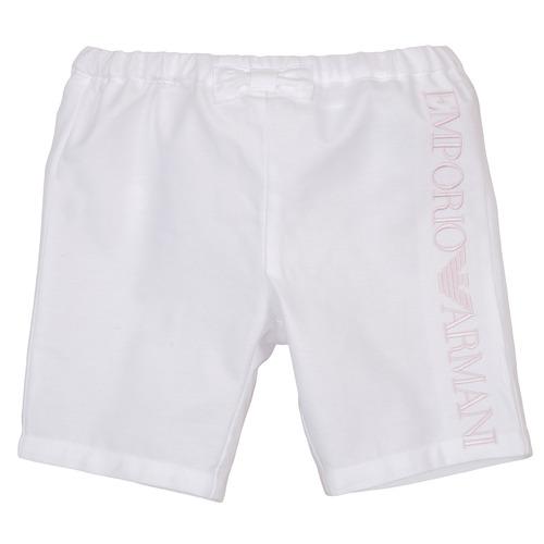 Υφασμάτινα Κορίτσι Σόρτς / Βερμούδες Emporio Armani Aniss Άσπρο