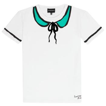 Υφασμάτινα Κορίτσι T-shirt με κοντά μανίκια Emporio Armani Anthonin Άσπρο