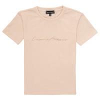 Υφασμάτινα Κορίτσι T-shirt με κοντά μανίκια Emporio Armani Armel Ροζ