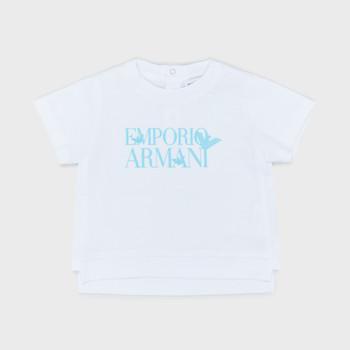Υφασμάτινα Αγόρι T-shirt με κοντά μανίκια Emporio Armani Arthus Άσπρο