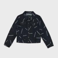 Υφασμάτινα Αγόρι Τζιν Μπουφάν/Jacket  Emporio Armani Angelo Μπλέ