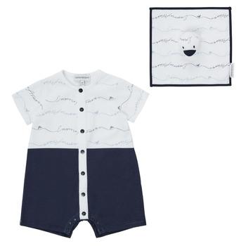 Υφασμάτινα Αγόρι Ολόσωμες φόρμες / σαλοπέτες Emporio Armani Edouard Marine