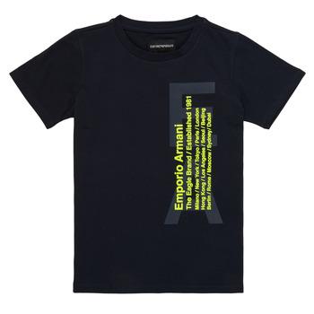 Υφασμάτινα Αγόρι T-shirt με κοντά μανίκια Emporio Armani Andoni Marine