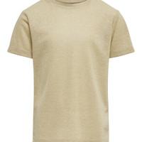 Υφασμάτινα Κορίτσι T-shirt με κοντά μανίκια Only KONSILVERY Gold
