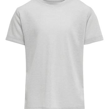 Υφασμάτινα Κορίτσι T-shirt με κοντά μανίκια Only KONSILVERY Silver