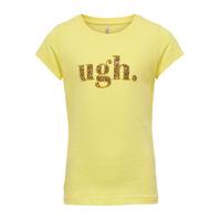 Υφασμάτινα Κορίτσι T-shirt με κοντά μανίκια Only KONJULLA Yellow