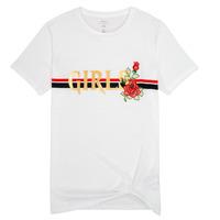 Υφασμάτινα Κορίτσι T-shirt με κοντά μανίκια Name it NKFBARBRA Άσπρο