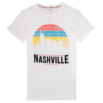 Υφασμάτινα Αγόρι T-shirt με κοντά μανίκια Name it NKMDPOPS Άσπρο