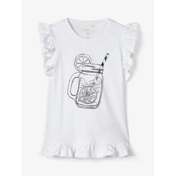 Υφασμάτινα Κορίτσι Αμάνικα / T-shirts χωρίς μανίκια Name it NKFZELANA Άσπρο
