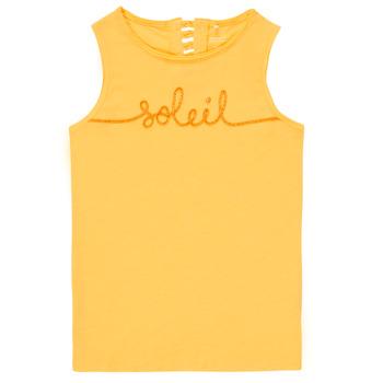 Υφασμάτινα Κορίτσι Αμάνικα / T-shirts χωρίς μανίκια Name it NKFFAMILA Yellow