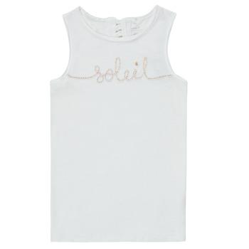 Υφασμάτινα Κορίτσι Αμάνικα / T-shirts χωρίς μανίκια Name it NKFFAMILA Άσπρο