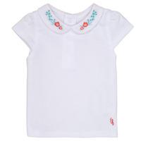 Υφασμάτινα Κορίτσι T-shirt με κοντά μανίκια Carrément Beau MAYVE Άσπρο