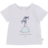 Υφασμάτινα Αγόρι T-shirt με κοντά μανίκια Carrément Beau MARTINEZ Άσπρο