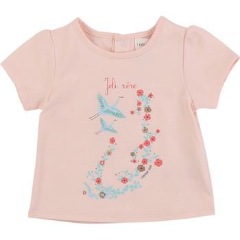 Υφασμάτινα Κορίτσι T-shirt με κοντά μανίκια Carrément Beau JUSTINE Ροζ