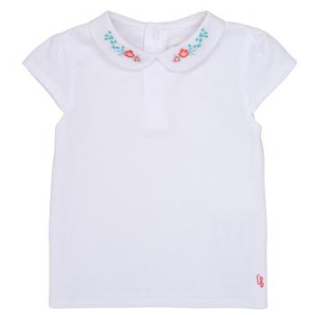 Υφασμάτινα Κορίτσι T-shirt με κοντά μανίκια Carrément Beau JULIEN Άσπρο