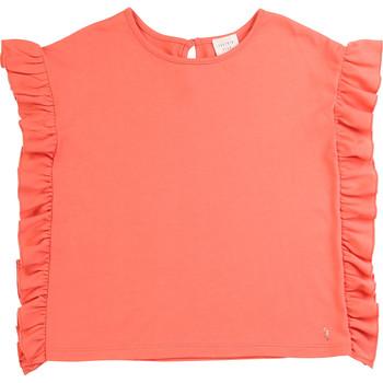 Υφασμάτινα Κορίτσι T-shirt με κοντά μανίκια Carrément Beau LEANA Ροζ