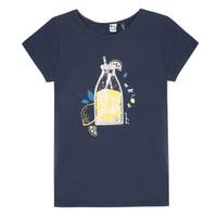 Υφασμάτινα Κορίτσι T-shirt με κοντά μανίκια 3 Pommes LOGAN Μπλέ