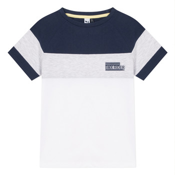 Υφασμάτινα Αγόρι T-shirt με κοντά μανίκια 3 Pommes NORA Άσπρο