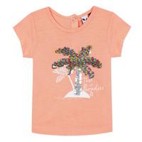 Υφασμάτινα Κορίτσι T-shirt με κοντά μανίκια 3 Pommes EMMA Orange