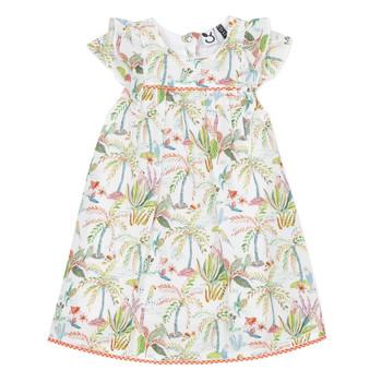 Υφασμάτινα Κορίτσι Κοντά Φορέματα 3 Pommes SANDRINE Άσπρο