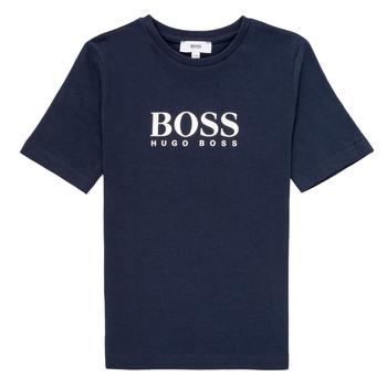 Υφασμάτινα Αγόρι T-shirt με κοντά μανίκια BOSS MARIA Μπλέ