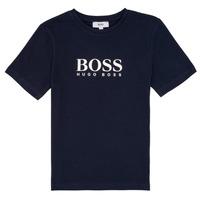 Υφασμάτινα Αγόρι T-shirt με κοντά μανίκια BOSS PILIO Μπλέ
