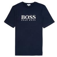 Υφασμάτινα Αγόρι T-shirt με κοντά μανίκια BOSS ELIO Μπλέ