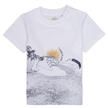 Υφασμάτινα Αγόρι T-shirt με κοντά μανίκια Timberland ANTONIN Άσπρο
