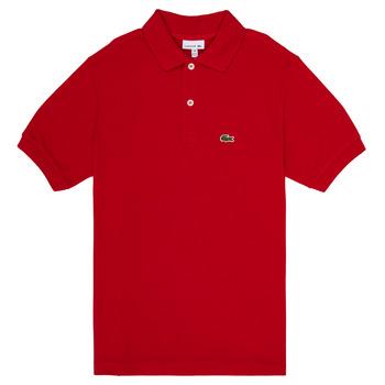 Υφασμάτινα Αγόρι Πόλο με κοντά μανίκια  Lacoste VINNIE Red