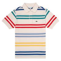 Υφασμάτινα Αγόρι Πόλο με κοντά μανίκια  Lacoste HENRI Multicolour