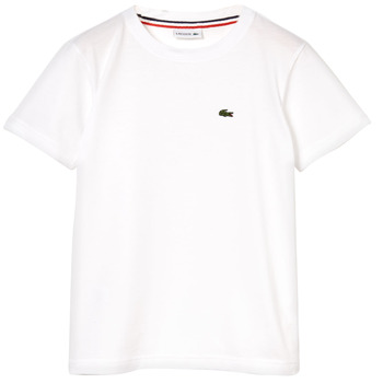 Υφασμάτινα Αγόρι T-shirt με κοντά μανίκια Lacoste NAE Άσπρο