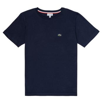 Υφασμάτινα Αγόρι T-shirt με κοντά μανίκια Lacoste JOSEPHE Marine