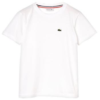 Υφασμάτινα Αγόρι T-shirt με κοντά μανίκια Lacoste ALIZE Άσπρο