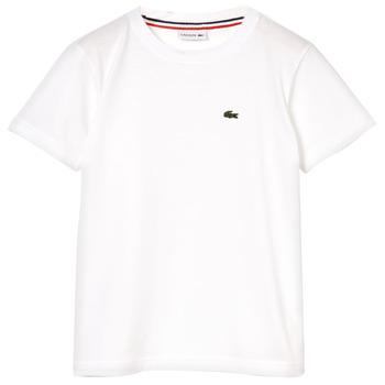 Υφασμάτινα Αγόρι T-shirt με κοντά μανίκια Lacoste APAULINE Άσπρο
