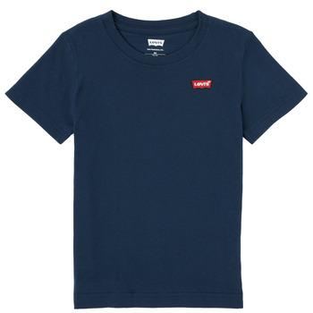 Υφασμάτινα Αγόρι T-shirt με κοντά μανίκια Levi's BATWING CHEST HIT Marine