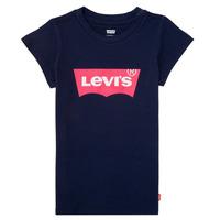 Υφασμάτινα Κορίτσι T-shirt με κοντά μανίκια Levi's BATWING TEE Marine