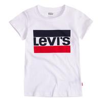 Υφασμάτινα Κορίτσι T-shirt με κοντά μανίκια Levi's SPORTSWEAR LOGO TEE Άσπρο