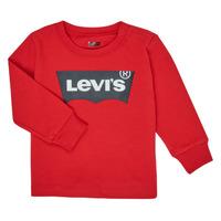 Υφασμάτινα Αγόρι Μπλουζάκια με μακριά μανίκια Levi's BATWING TEE LS Red