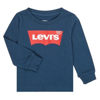 Υφασμάτινα Αγόρι Μπλουζάκια με μακριά μανίκια Levi's BATWING TEE LS Marine